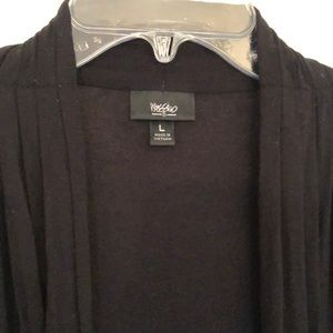 Mossimo Supply Co. Sweaters - Soft black wrap cardigan / cover up, sz L